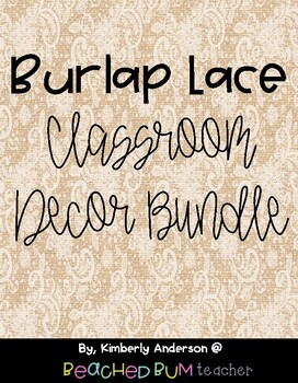 Farmhouse Burlap Lace Classroom Decor Bundle