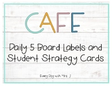 Farmhouse CAFE Board Labels and Student Strategy Cards