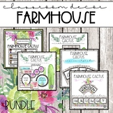 Farmhouse Cactus Classroom Decor BUNDLE