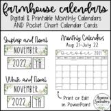 NEW Farmhouse Calendar EDITABLE