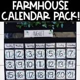Farmhouse Calendar Pack