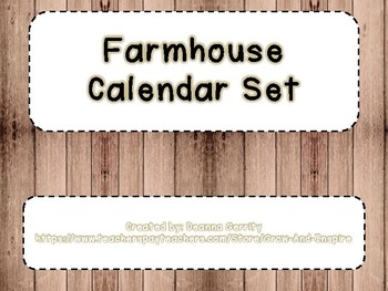 Farmhouse Calendar Set