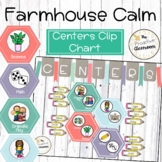Farmhouse Calm Center Clip Chart   Whitewash   Display   A