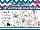 Nautical Center Rotation Board (Center Rotation PowerPoint) Math