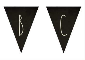 Farmhouse Chalkboard Alphabet and Number Flag Bunting Classroom Decor