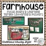 Farmhouse Chalkboard & Burlap Focus Wall, Learning Target,