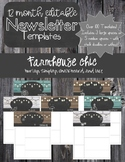 Farmhouse Chic 12 Month Editable Newsletter Templates