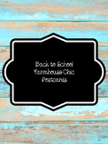 Farmhouse Chic Back to School Postcards