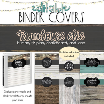 Farmhouse Chic Binder Covers [EDITABLE]