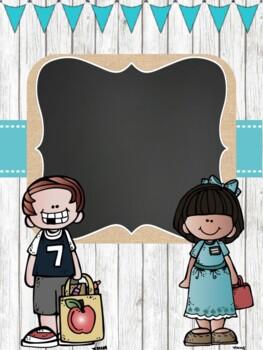 Farmhouse Chic Binder Covers for 2018-2019 {Shiplap, Burlap & Chalkboard!}
