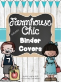 Farmhouse Chic Binder Covers for 2019-2020 {Shiplap, Burlap & Chalkboard!}