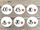 Farmhouse Chic Classroom Clock Labels- Two Choices