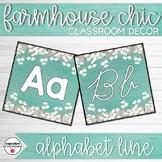Farmhouse Chic Classroom Decor Alphabet Line