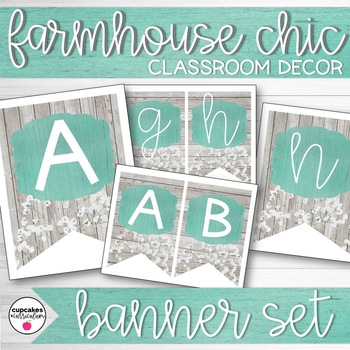 Farmhouse Chic Classroom Decor: Banner
