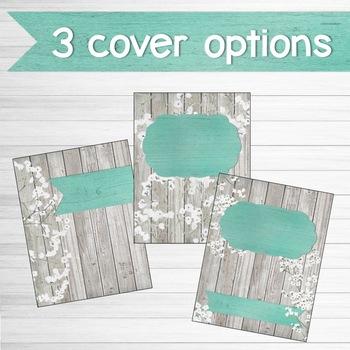 Farmhouse Chic Classroom Decor Binder Covers