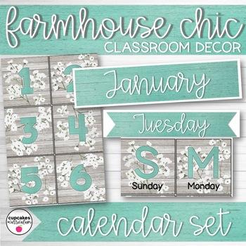 Farmhouse Chic Classroom Decor Calendar Set
