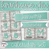 Farmhouse Chic Classroom Decor Calendar Set