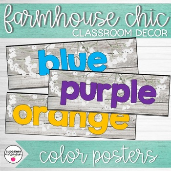 Farmhouse Chic Classroom Decor Color Posters