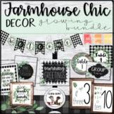 Farmhouse Chic Classroom Decor Editable GROWING BUNDLE | Shiplap, Greenery