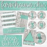 Farmhouse Chic Classroom Decor Kit with Editable Templates