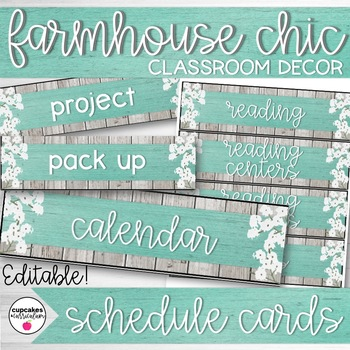 Farmhouse Chic Classroom Decor Schedule Display