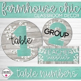Farmhouse Chic Classroom Decor Table Numbers and Supply Caddy Labels