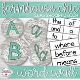 Farmhouse Chic Classroom Decor Word Wall Set