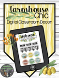 Digital Classroom Decor - Farmhouse Chic
