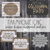 Farmhouse Chic EDITABLE Classroom Rules-Whole Brain/Love and Logic Rules