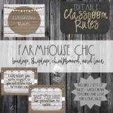 Farmhouse Chic EDITABLE Classroom Rules-Whole Brain/Love a