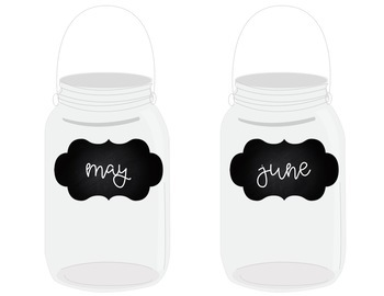 Farmhouse Chic - Mason Jar Birthday Set