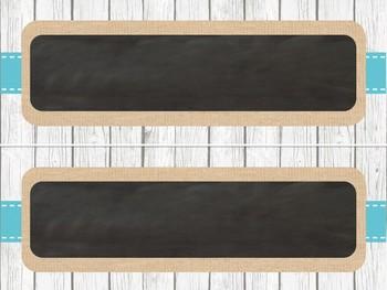 Farmhouse Chic Nameplates {Shiplap, Burlap & Chalkboard}