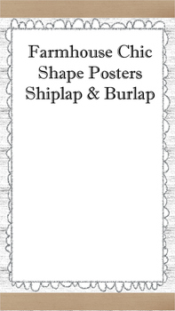 Farmhouse Chic Shape Posters