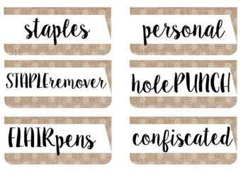 Farmhouse Chic Teacher Toolbox Labels EDITABLE