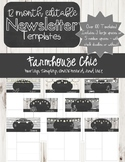 Farmhouse Chic White Editable 12 Month Newsletters