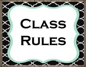 Farmhouse Class Rules 1