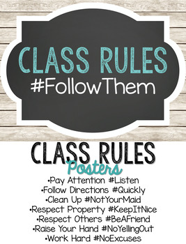 Farmhouse Class Rules Posters
