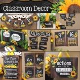 Farmhouse Sunflower Classroom Decor Theme BUNDLE