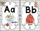 Alphabet Wall Cards with Pictures and Words Farmhouse Classroom Decor