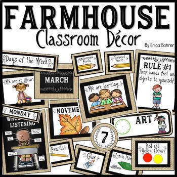 Farmhouse Classroom Decor Basics