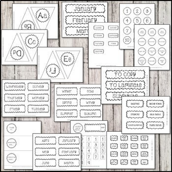 Ink-Friendly Farmhouse Classroom Decor Bundle
