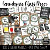 Farmhouse Classroom Decor Bundle Set