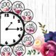 Farmhouse Classroom Decor Clock Labels