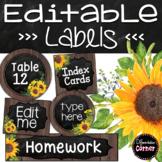 Farmhouse Classroom Decor Editable Labels