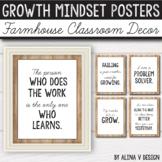 Modern Farmhouse Classroom Decor Growth Mindset Posters