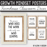 Farmhouse Classroom Decor - Growth Mindset Posters - Editable