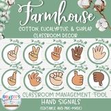 Farmhouse Classroom Decor - Hand Signals for Classroom Man