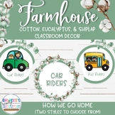 Farmhouse Classroom Decor - How We Go Home Display