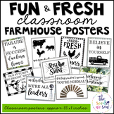 Farmhouse Classroom Decor: Poster Set