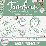 Farmhouse Classroom Decor - Table Numbers